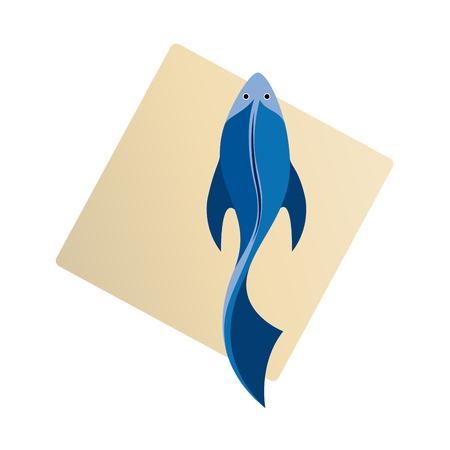 abstract fish: Vector sign abstract Fish