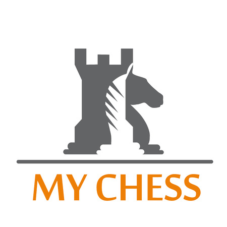 patience: Vector sign horse and tower of chess