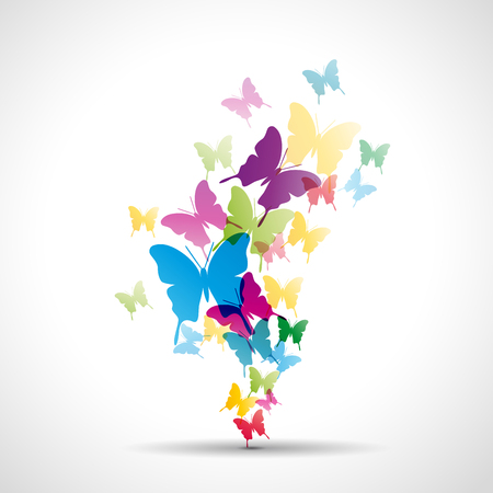 Mariposas abstractas fondo