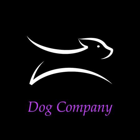 Vektor-Zeichen abstrakte Hund läuft Standard-Bild - 47823339