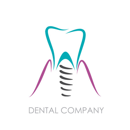 dental: Vector sign Dental implant Illustration