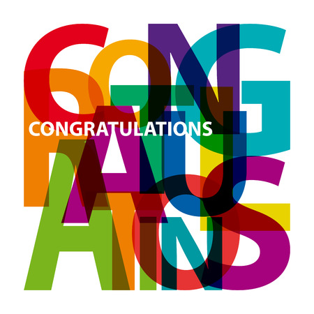 congratulation: Vector congratulations. Broken text