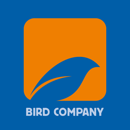 simplified: abstract sign bird on branch