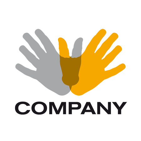 mains crois�es: sign teamwork, hands crossed