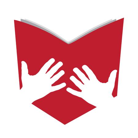 Vector signer le livre des résumés Banque d'images - 47843359