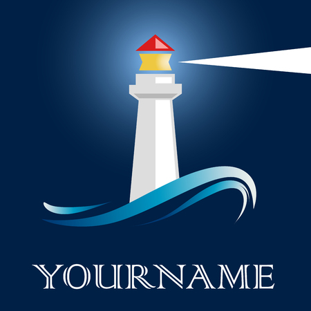lighthouses: Vector sign lighthouse