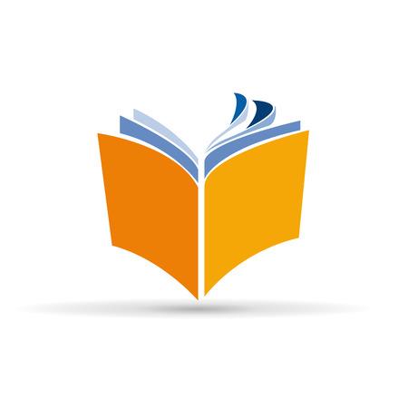 Vektor-Zeichen abstrakte Buch Standard-Bild - 47843362