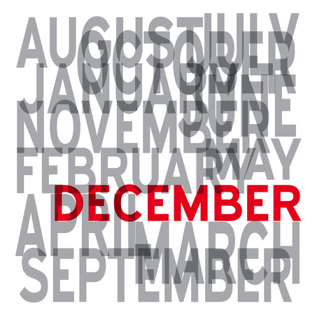 in december: Vector december background