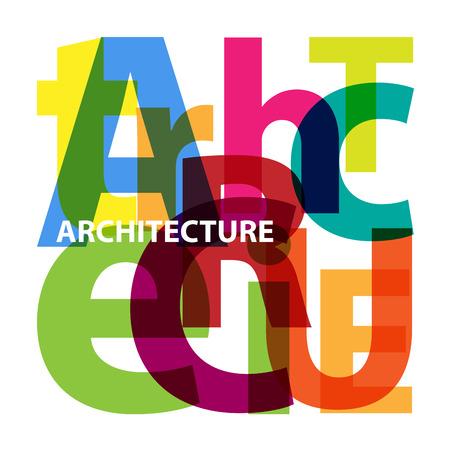 architecture: Vector architecture. Broken text Illustration