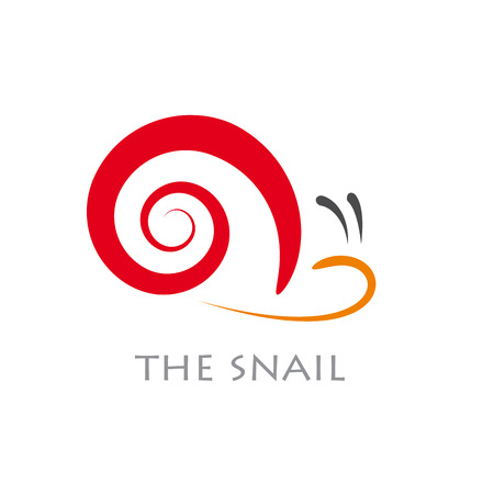 slow motion: Vector sign abstract snail Illustration