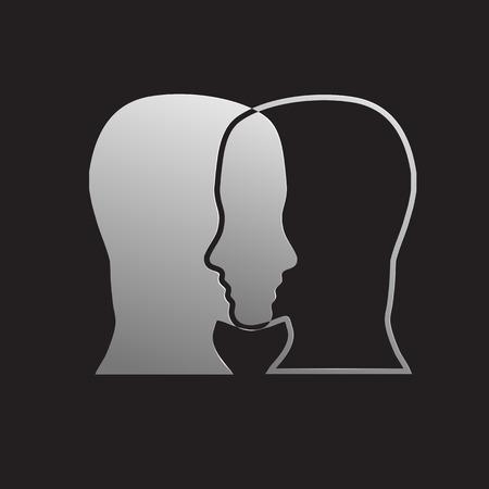 Vectorteken dubbele persoonlijkheid Stock Illustratie