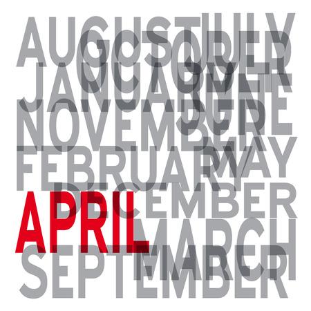 4월: Vector april background