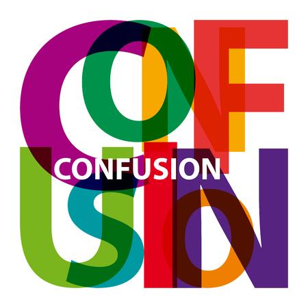 confusion: Vector confusion. Broken text