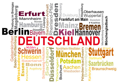 confusion: Vector German cities in confusion