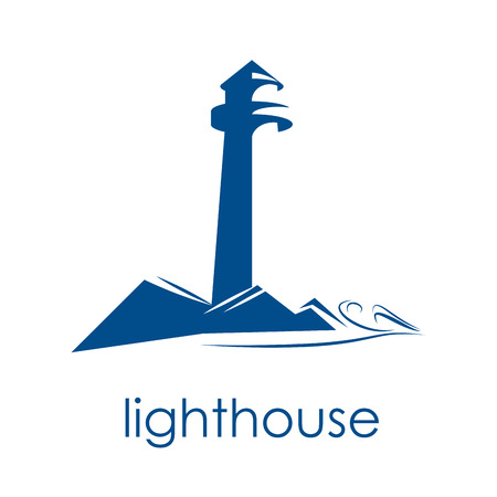 Vector sign lighthouse