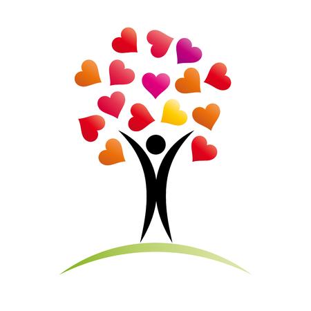 love tree: Vector sign Love Tree Illustration