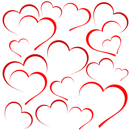 Vector hearts background
