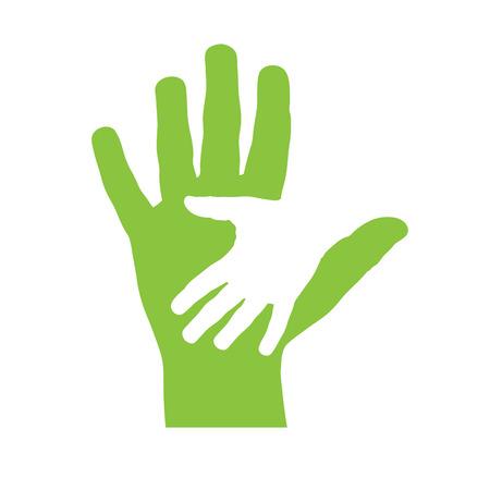 Vector deksel twee handen