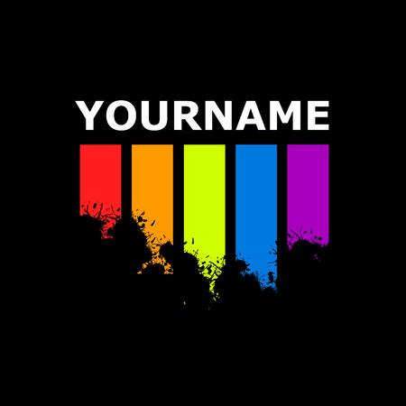 Vector sign Colour grunge bars 版權商用圖片 - 48038040