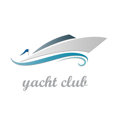 Vector sign yacht and boat