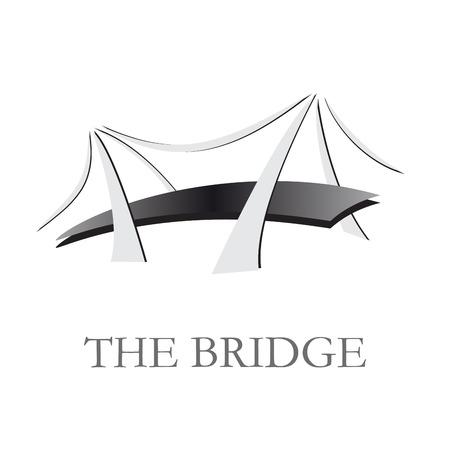 driven: Vector sign  bridge Illustration