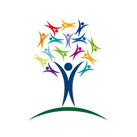 solidaridad: Vector del �rbol de se�al de solidaridad