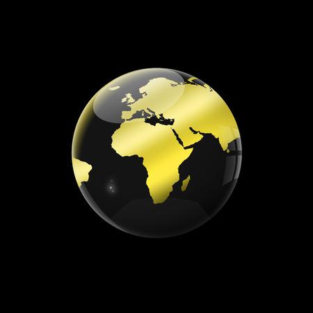 golden globe: golden globe on black background