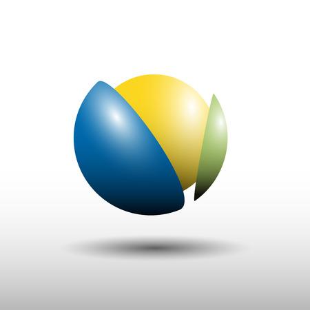 synergie: Vector sign break a ball, synergy Illustration