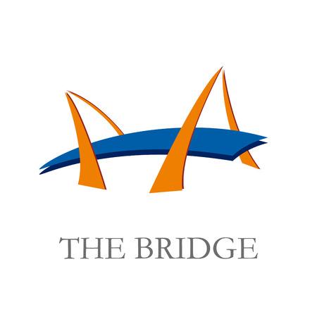 通訊: 矢量標誌橋 向量圖像