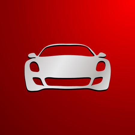 dealership: Vector sign  front car