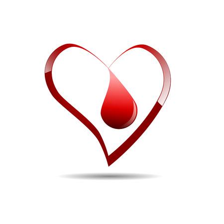 blood tests: Vector sign Blood Donation Illustration