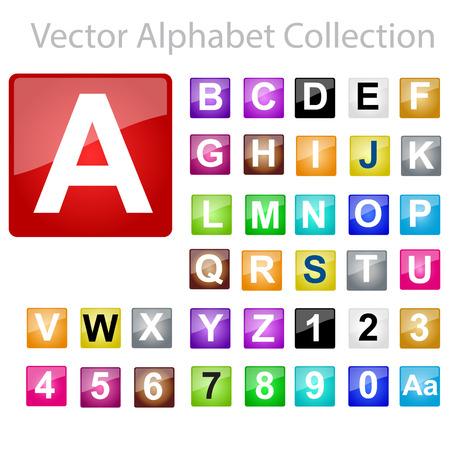 rectángulo: Vector del alfabeto Colección