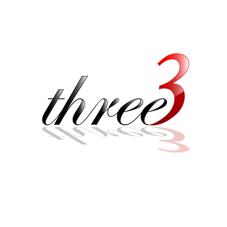 triad: Vector sign three, number and letter Illustration