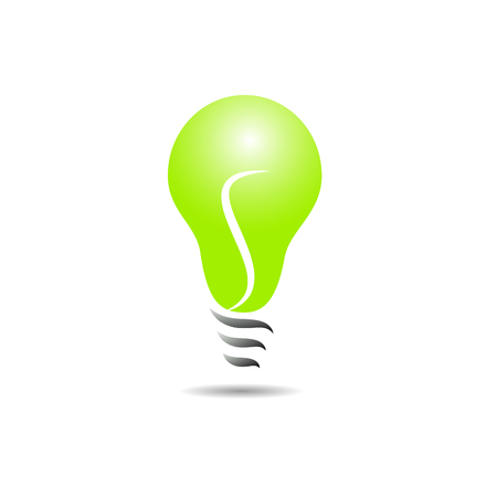 electricity company: Vector sign energy efficient light bulb Illustration