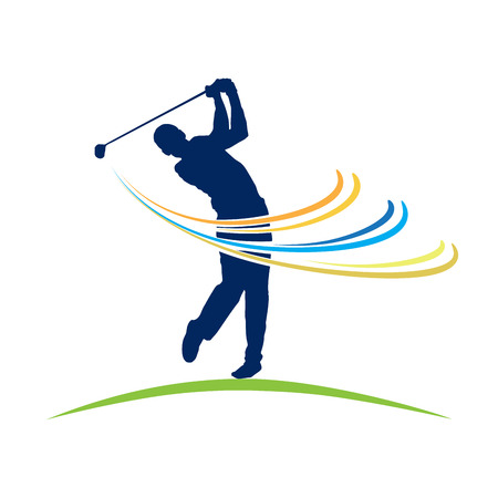 wake: Vector sign Club Golf Illustration