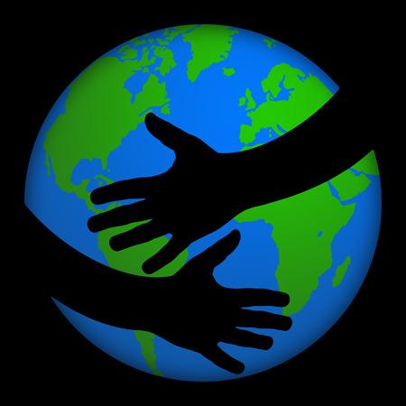 teken Liefde voor de aarde Stockfoto