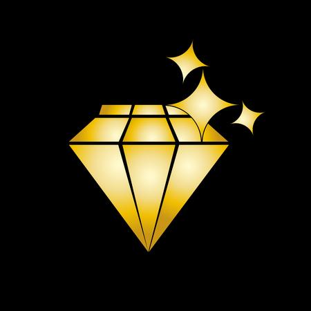 sparkling: Vector sign sparkling Diamond