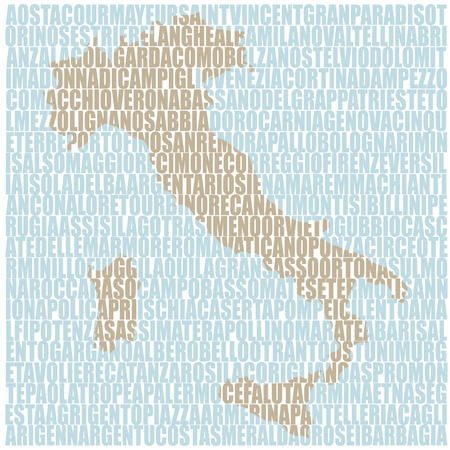 places: Map famous places of Italy Illustration