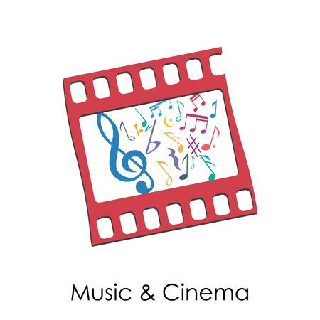 Vector illustration Vintage Music and Cinema