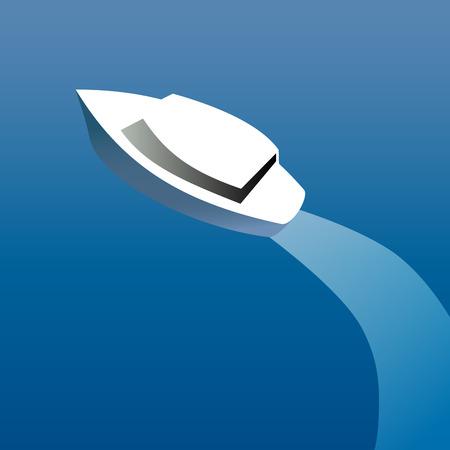 despertar: ilustración vectorial lancha Vectores