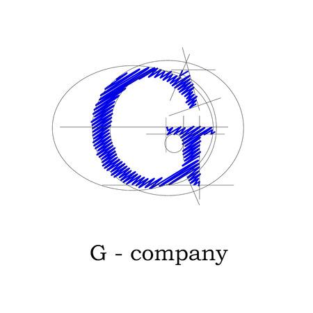 g alphabet: Vector sign design letter G