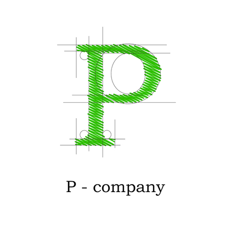 Vector sign design letter P