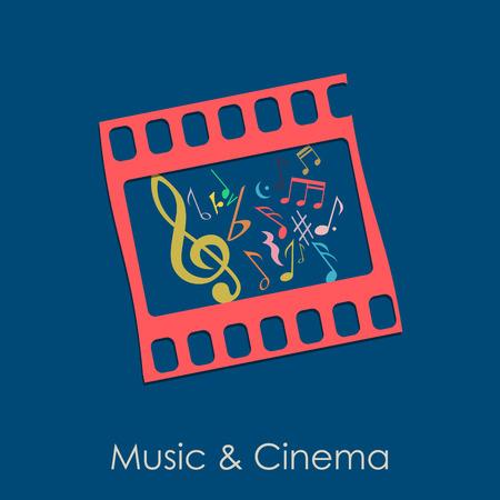 audiovisual: Vector illustration Vintage Music and Cinema