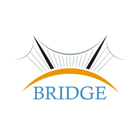 ベクトル記号の橋  イラスト・ベクター素材