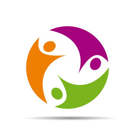 teamwork people: Logo teamwork on white background  Vector