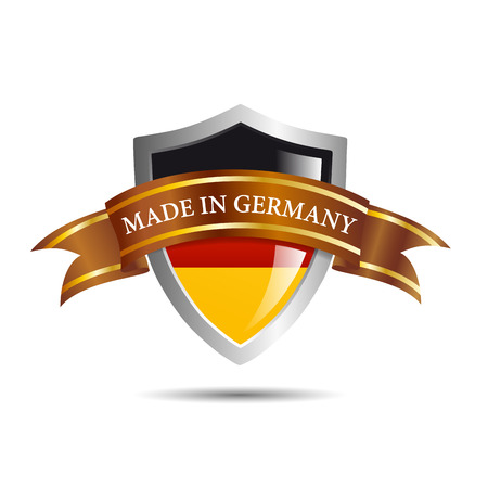 made in germany: Vector shield made in Germany