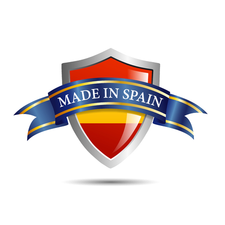 made in spain: Vector shield made in Spain Illustration