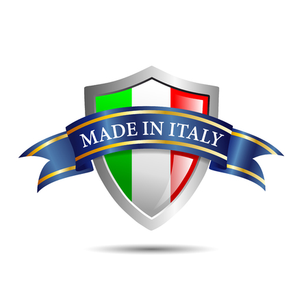 made in italy: Vector shield made in Italy