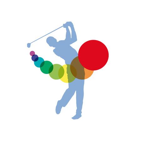 Vector sign Golf Club Illustration
