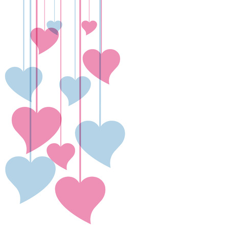 abstract heart: Vector hearts background